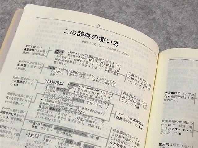 朝鮮語辞典使い方説明ページ